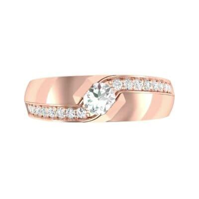 Pave Passage Diamond Engagement Ring (0.45 CTW) Top Flat View