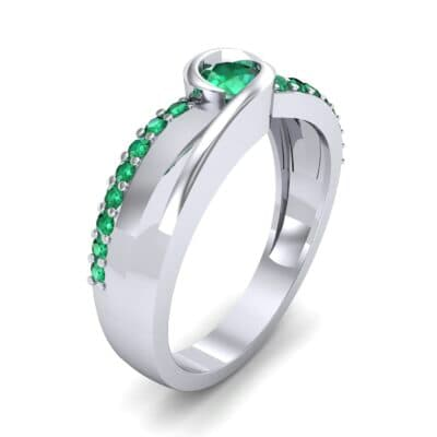 Harmony Emerald Bypass Engagement Ring (0.38 CTW)
