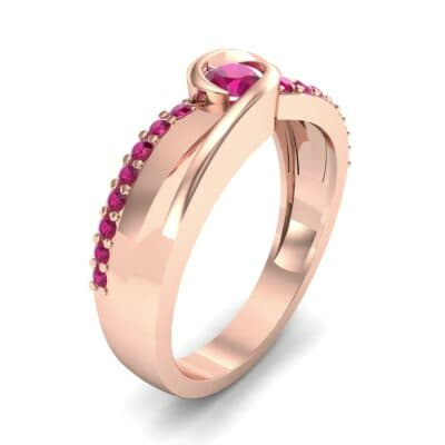 Harmony Ruby Bypass Engagement Ring (0.38 CTW)