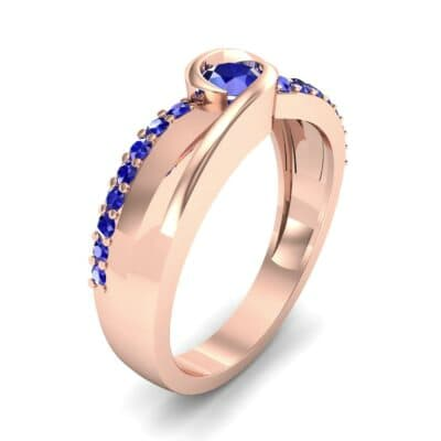 Harmony Blue Sapphire Bypass Engagement Ring (0.38 CTW)