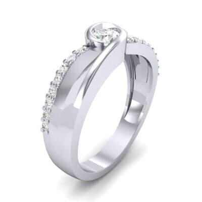 Harmony Diamond Bypass Engagement Ring (0.38 CTW)
