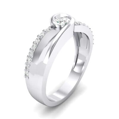 Harmony Crystal Bypass Engagement Ring (0.38 CTW) Perspective View