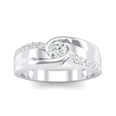 Harmony Crystal Bypass Engagement Ring (0.38 CTW) Top Dynamic View
