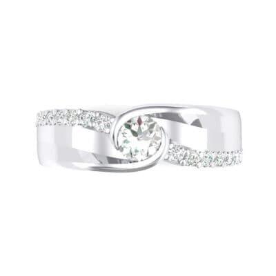 Harmony Crystal Bypass Engagement Ring (0.38 CTW) Top Flat View