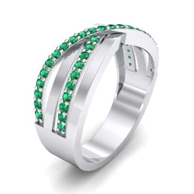 Split-Shank Overpass Emerald Ring (0.64 CTW)