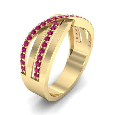 Split-Shank Overpass Ruby Ring (0.64 CTW) Perspective View