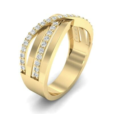 Split-Shank Overpass Diamond Ring (0.64 CTW)