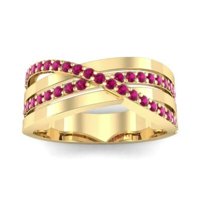 Split-Shank Overpass Ruby Ring (0.64 CTW) Top Dynamic View
