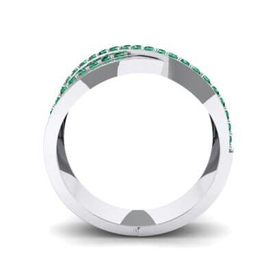 Split-Shank Overpass Emerald Ring (0.64 CTW) Side View