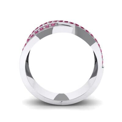 Split-Shank Overpass Ruby Ring (0.64 CTW) Side View