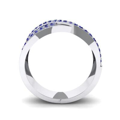 Split-Shank Overpass Blue Sapphire Ring (0.64 CTW) Side View