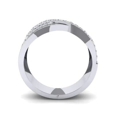 Split-Shank Overpass Diamond Ring (0.64 CTW) Side View
