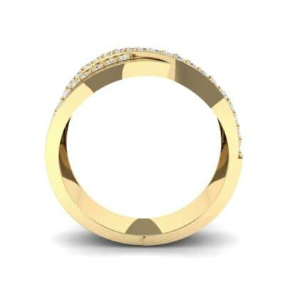 Split-Shank Overpass Diamond Ring (0.64 CTW) Side View