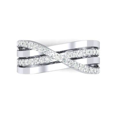 Split-Shank Overpass Diamond Ring (0.64 CTW) Top Flat View