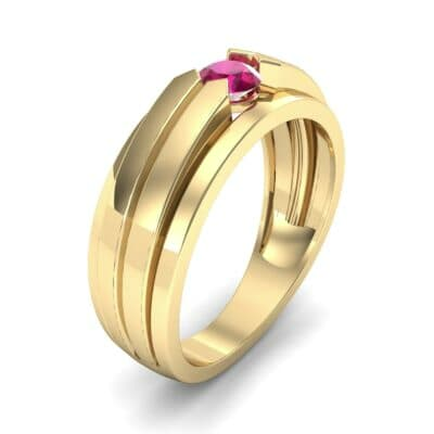 Elevation Solitaire Ruby Ring (0.32 CTW) Perspective View