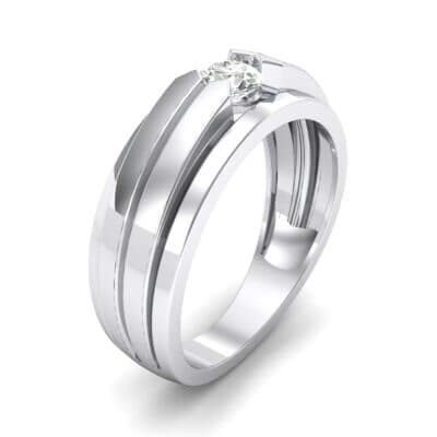 Elevation Solitaire Diamond Ring (0.32 CTW) Perspective View