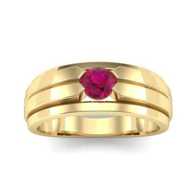Elevation Solitaire Ruby Ring (0.32 CTW) Top Dynamic View