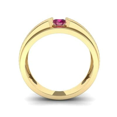 Elevation Solitaire Ruby Ring (0.32 CTW) Side View