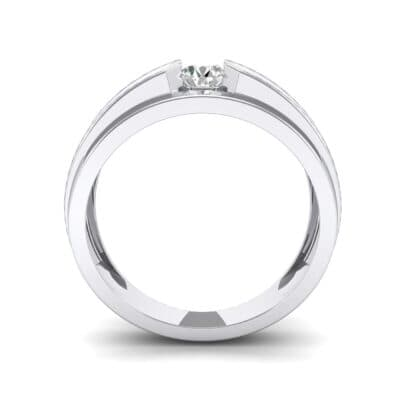 Elevation Solitaire Diamond Ring (0.32 CTW) Side View