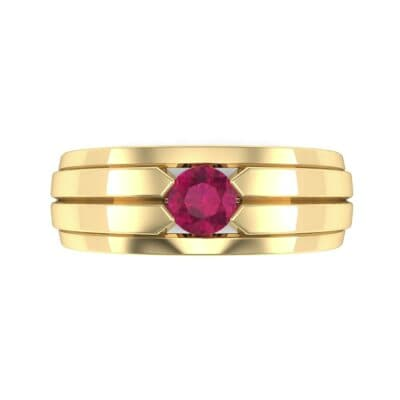 Elevation Solitaire Ruby Ring (0.32 CTW) Top Flat View