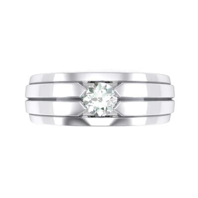 Elevation Solitaire Diamond Ring (0.32 CTW) Top Flat View