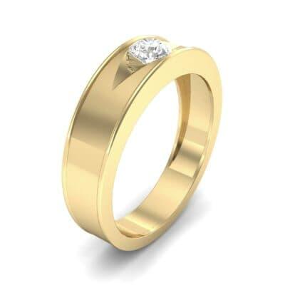 Sunken Solitaire Diamond Ring (0.22 CTW) Perspective View