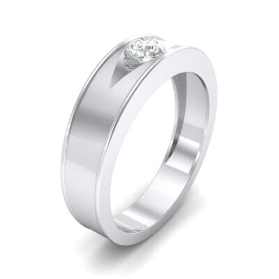 Sunken Solitaire Crystal Ring (0.22 CTW) Perspective View