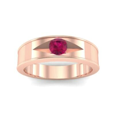 Sunken Solitaire Ruby Ring (0.22 CTW) Top Dynamic View