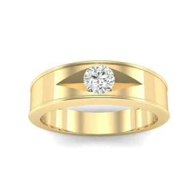 Sunken Solitaire Diamond Ring (0.22 CTW) Top Dynamic View