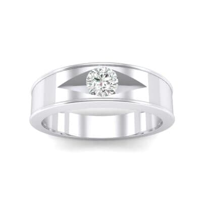 Sunken Solitaire Crystal Ring (0.22 CTW) Top Dynamic View