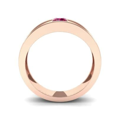 Sunken Solitaire Ruby Ring (0.22 CTW) Side View