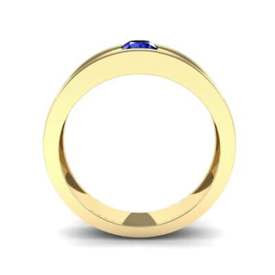 Sunken Solitaire Blue Sapphire Ring (0.22 CTW) Side View
