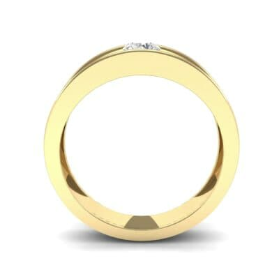 Sunken Solitaire Diamond Ring (0.22 CTW) Side View