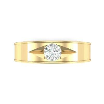 Sunken Solitaire Diamond Ring (0.22 CTW) Top Flat View