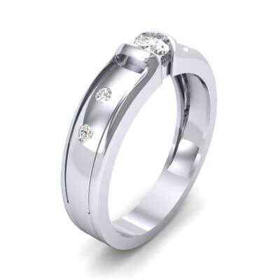 Half-Bezel Diamond Engagement Ring (0.3 CTW)