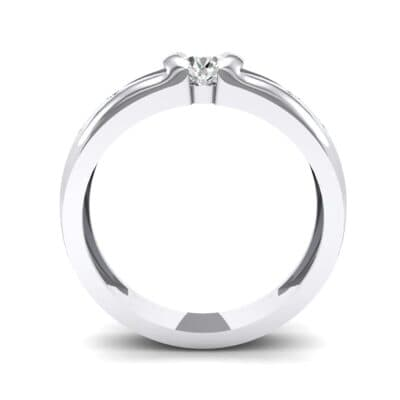 Half-Bezel Crystal Engagement Ring (0.3 CTW) Side View