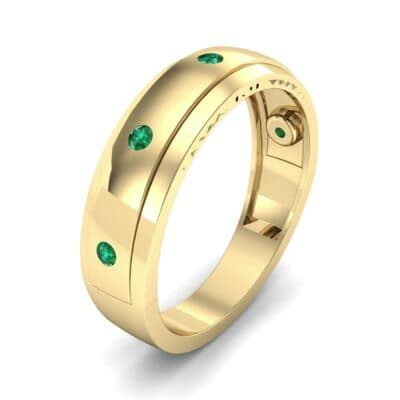 Sette Burnish Emerald Ring (0.07 CTW)