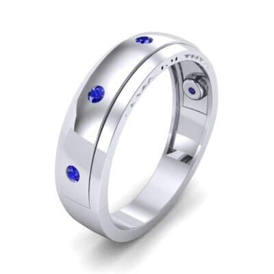Sette Burnish Blue Sapphire Ring (0.07 CTW)