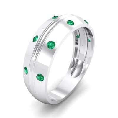 Canal Burnish Emerald Ring (0.16 CTW)