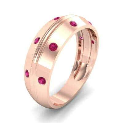 Canal Burnish Ruby Ring (0.16 CTW)