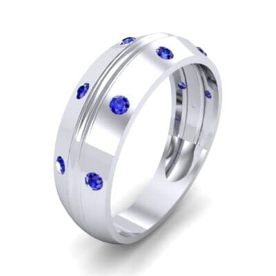Canal Burnish Blue Sapphire Ring (0.16 CTW)