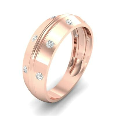 Canal Burnish Diamond Ring (0.16 CTW) Perspective View
