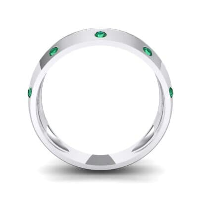 Canal Burnish Emerald Ring (0.16 CTW) Side View