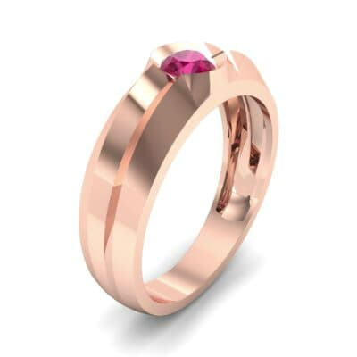 Double Knife Edge Ruby Engagement Ring (0.32 CTW)