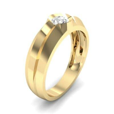 Double Knife Edge Diamond Engagement Ring (0.32 CTW)