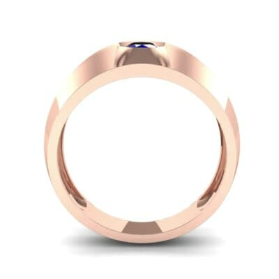 Double Knife Edge Blue Sapphire Engagement Ring (0.32 CTW) Side View