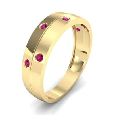 Starlight Split Band Ruby Ring (0.21 CTW) Perspective View
