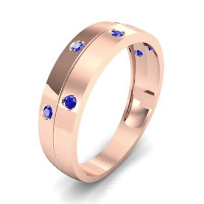Starlight Split Band Blue Sapphire Ring (0.21 CTW) Perspective View