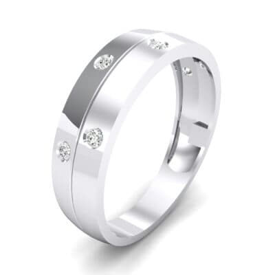 Starlight Split Band Crystal Ring (0.21 CTW) Perspective View