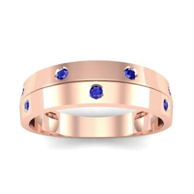 Starlight Split Band Blue Sapphire Ring (0.21 CTW) Top Dynamic View